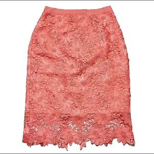 White House Black Mkt - Floral Lace Pencil Skirt
